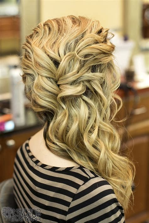 homecoming hairstyles side swept prom hairstyles side swept curls triple weft hair extensions