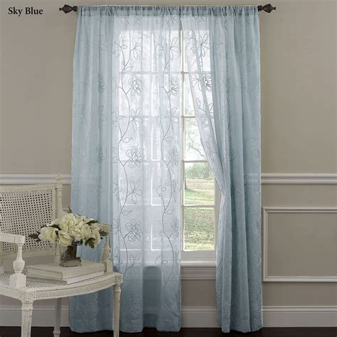 sheer embroidered curtains laura ashley frosting embroidered sheer curtain panels