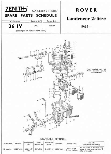 zenith 36 iv 3 land rover 2 188 litre 1966