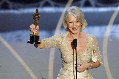 Helen Mirren Went Commando At Oscars by Helen Mirren On Winning An Oscar And In Gold Variety