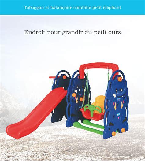 Toboggan Et Balancoire by Combin 233 Balan 231 Oire Toboggan Les Cabanes De Jardin Abri