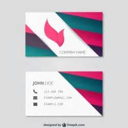 Download Business Cards Templates Abstract Business Card Template Vector Free Download