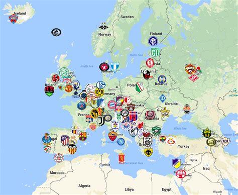 champions league map sport league maps