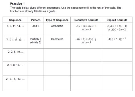 Arithmetic And Geometric Sequences Worksheet Answers by Uncategorized Arithmetic And Geometric Sequences