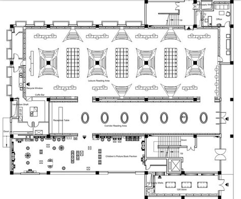 bookstore design floor plan grande biblioth 232 que en verre noir 224 zhen yuan en chine