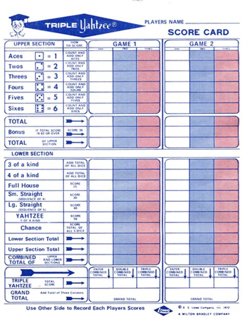 printable painted yahtzee score sheets triple yahtzee image boardgamegeek