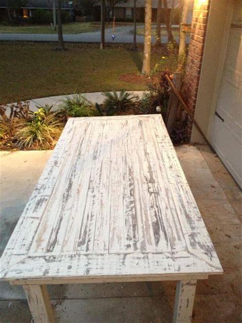 whitewashed farmhouse table white washed pallet farmhouse table pallet furniture diy