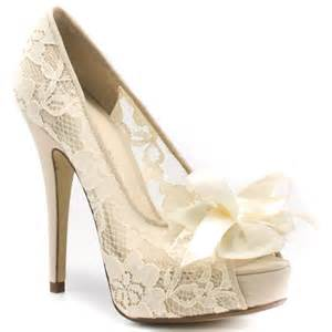 ivory lace wedding shoes the knot