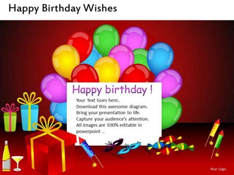 Powerpoint Template For Birthday Card by Birthday Card Powerpoint Template Celebrate Powerpoint