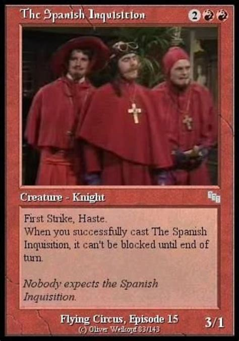 Spanish Inquisition Meme - image 242364 nobody expects the spanish inquisition
