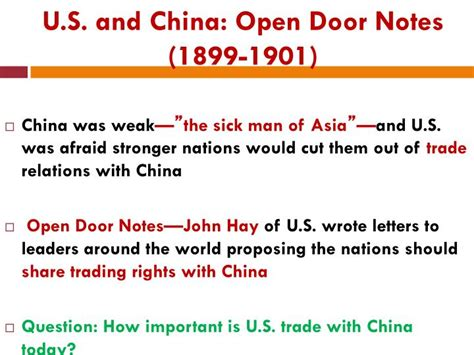 Which Statement About The Open Door Notes Is True by Ppt U S Imperialism 1870 1920 Powerpoint Presentation