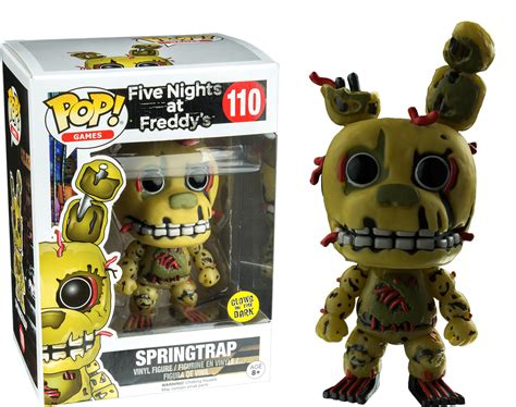 Funko Five At Freedyos Springtrap Glow In The five nights at freddy s pop vinyl springtrap glow in the
