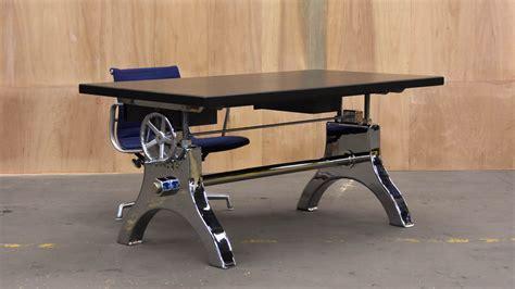 Chrome Hure Crank Desk ? Vintage Industrial Furniture