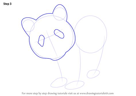 Panda Outline Drawing by Learn How To Draw A Panda Animals Step By Step Drawing Tutorials