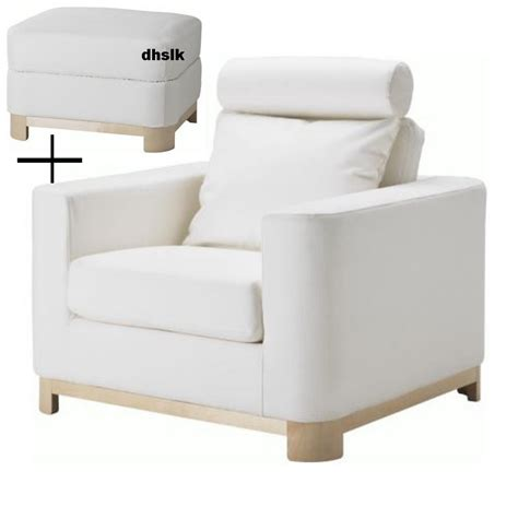 armchair and ottoman slipcovers ikea salen armchair and footstool slipcovers saganas white