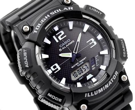 Casio Original Analog Digital Aq S810w 1bvdf For Mens casio aqs810w aq s810w 1av 1a analog digital solar neobrite black freeship ebay