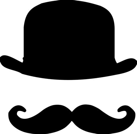 Topi Baseball Grande Side To Side T0210 clipart bowler hat and moustache