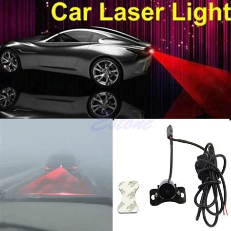Lu Kabut Mobil Starry Laser car universal aluminium rear laser fog light taillight model bola black jakartanotebook