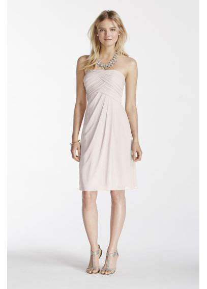 5 Sassy Summer Strapless Staples by Strapless Mesh Dress With Pleated Bodice F17048