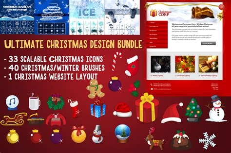 loottm games themes ultimate holiday bundle ultimate christmas bundle 74 items icons on creative