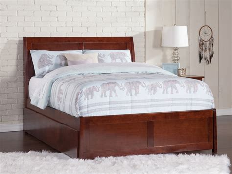Matching Beds by Portland Platform Bed With Matching Footboard Antique Walnut