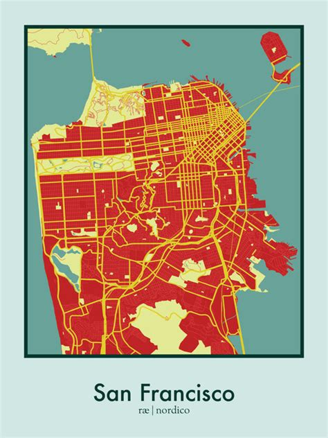 san francisco map to print san francisco usa map print 18 quot x24 quot modern prints