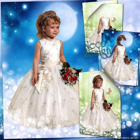neco template детский шаблон для маленькой девочки в белом платье с