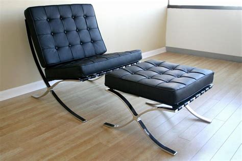 barcelona armchair exposition famous design black leather chair los angeles california ahf04