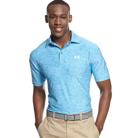 under armoir golf lyst under armour elevated heather performance golf polo