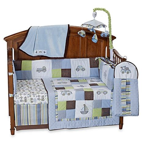 Bed Bath And Beyond Crib Bedding Line Mosaic Transport 6 Crib Bedding And Accessories Bed Bath Beyond