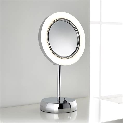bathroom mirrors with magnification hotel bathroom style led magnifying mirror from pebble