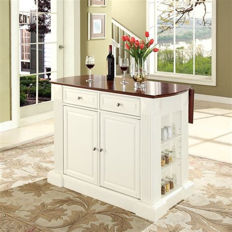 Kitchen Island Shop Shop Crosley Furniture White Craftsman Kitchen Island At Lowes