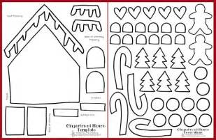 Gingerbread House Template Printable by Printable Gingerbread House Craft Keeping Creative