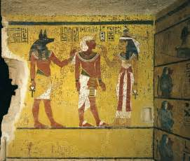 Egyptian Wall Murals burial chamber discovering king tut s tomb a turning
