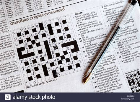 Newspaper Section Crossword by Part Completed Guardian Cryptic Crossword Set By Araucaria