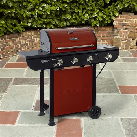 bbq pro 3 burner gas grill with side burner limited