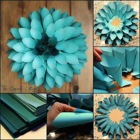 How To Make Paper Wall Flowers - best 25 diy wall flowers ideas on paper