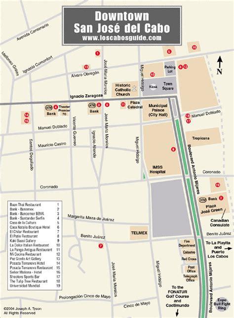 san jose downtown restaurants map downtown san jose cabo map