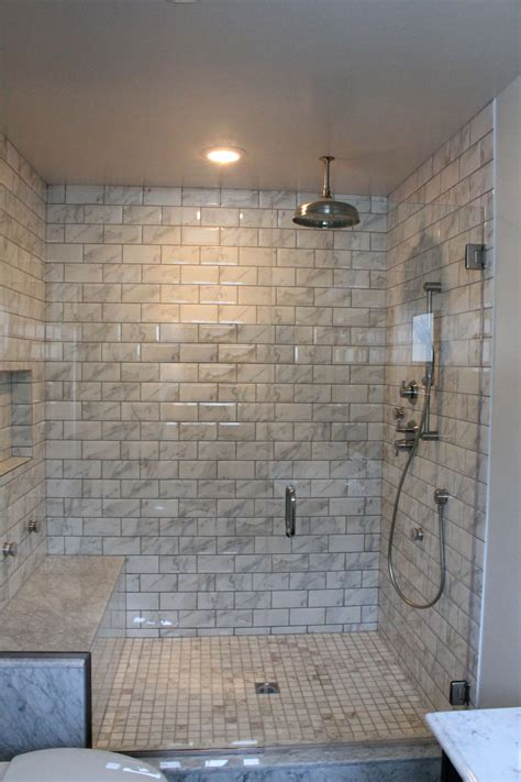 Bathrooms With Tile Showers Pin By Chelsea Bloomfield Eckley On For The Home Pinterest