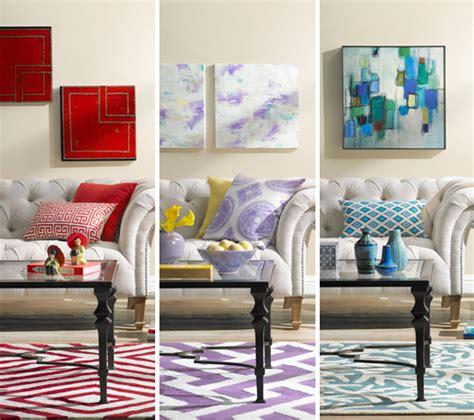 Colorful Living Room Ideas A Colorful Living Room Decorating Idea One Room Three Ways Huffpost