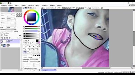 paint tool sai no curve tool como transforma sua foto ne um desenho pelo paint tool sai