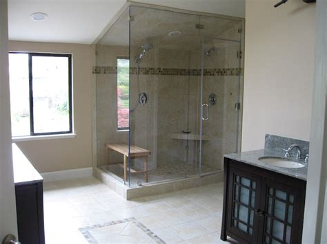 vaulted ceiling bathroom glass shower walls in vaulted ceiling bathroom with glass