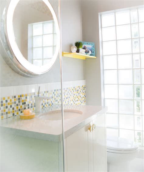 yellow grey white bathroom tiny bathrooms with attractive interior designs