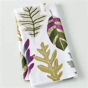 leaf newsprint kitchen towel contemporary dish towels