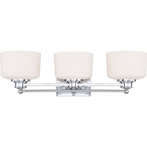 Shop 3 Light Soho Polished Chrome Bathroom Vanity Light At Chrome Bathroom Vanity Lights