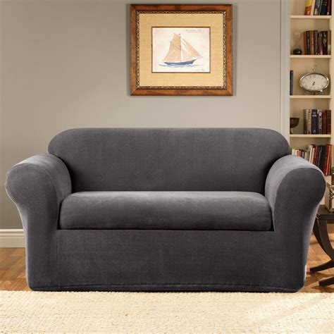 Sure Fit Stretch Stripe 2 Sofa Slipcover sure fit stretch stripe 2 sofa slipcover sure fit stretch stripe 2 sofa slipcover