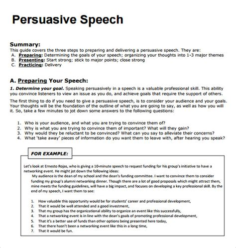 Sle Of Speech Writing persuasive speech exles 7 documents in pdf