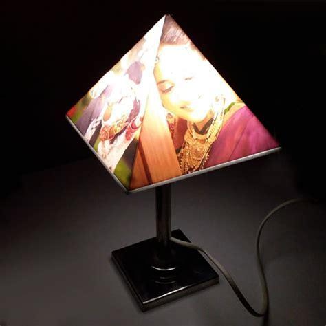 Pyramid Personalised Lamp   photo lamps   Rs.2499