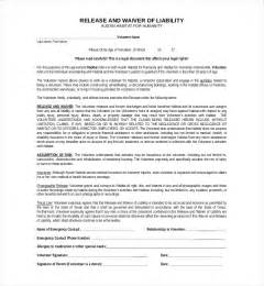 sample liability release forms 10 free documents in pdf