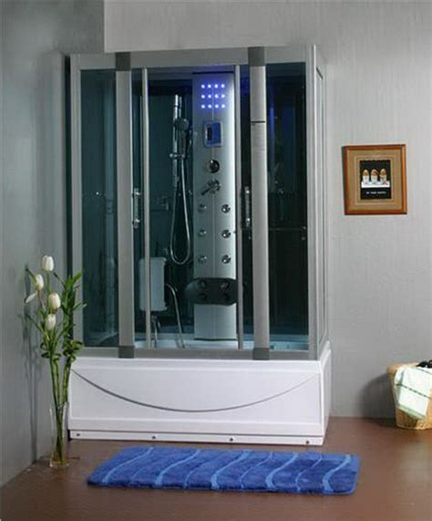 steam shower bathtub steam shower room with deep whirlpool tub w air bubble